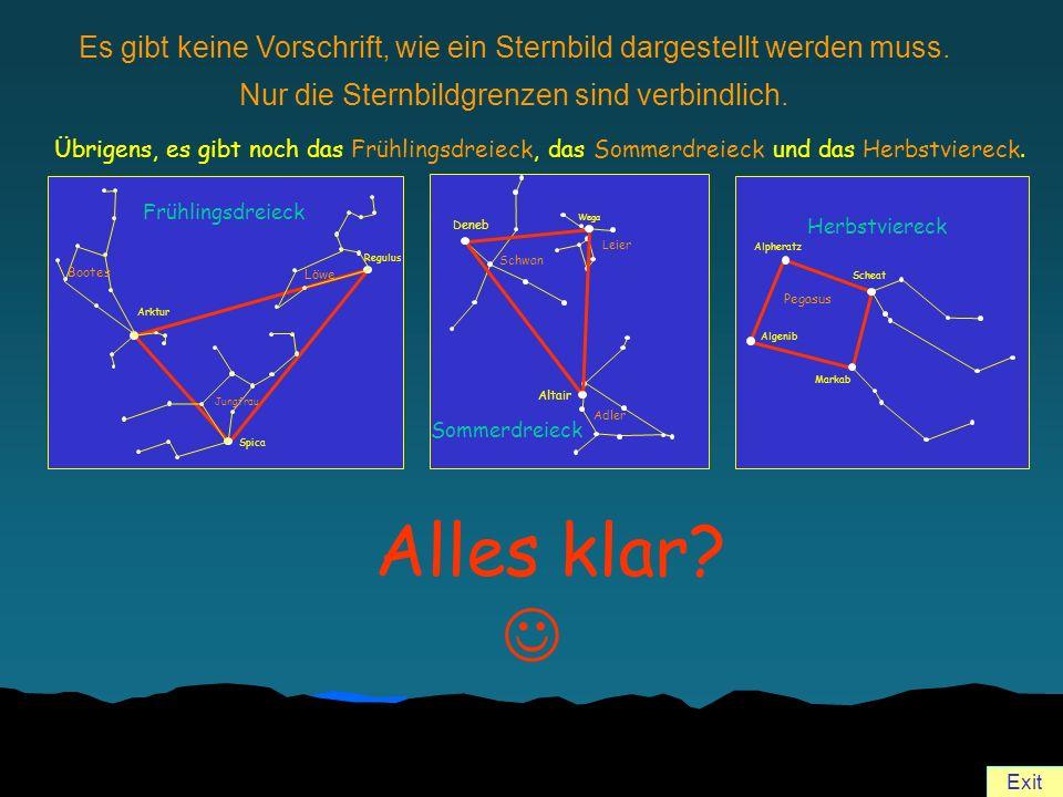 Es gibt keine Vorschrift, wie ein Sternbild dargestellt werden muss.