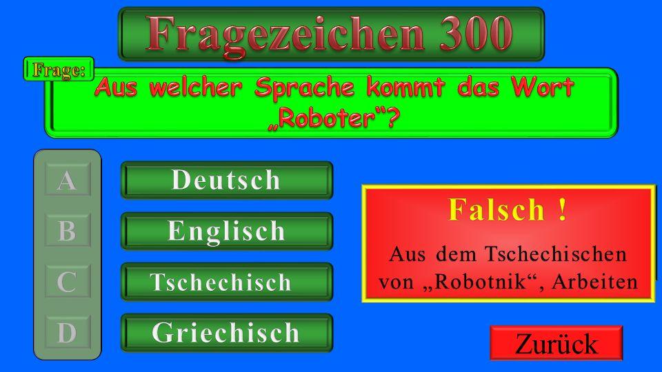 """Aus welcher Sprache kommt das Wort """"Roboter"""