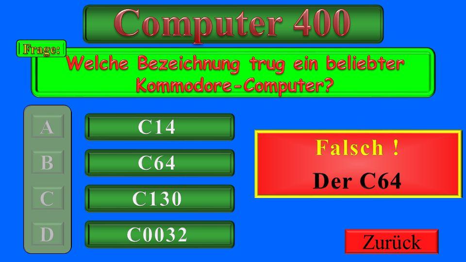 Welche Bezeichnung trug ein beliebter Kommodore-Computer