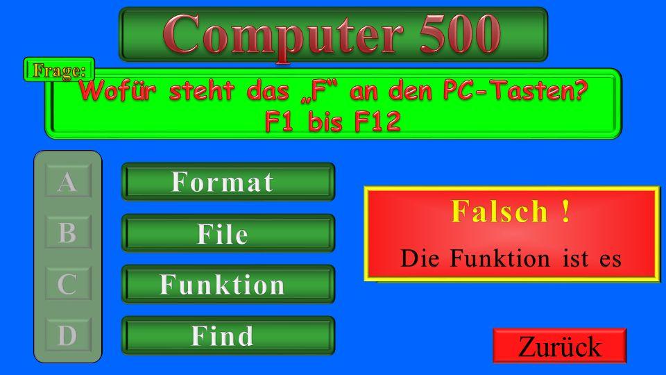 """Wofür steht das """"F an den PC-Tasten F1 bis F12"""