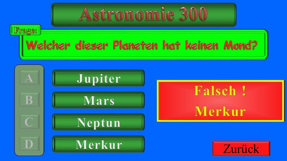 Astronomie 300 Richtig ! Falsch ! Merkur Jupiter 300€ Gutschrift Mars