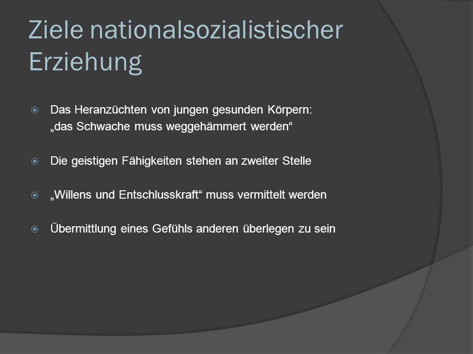 Ziele nationalsozialistischer Erziehung