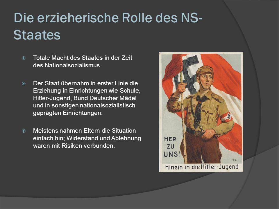 Die erzieherische Rolle des NS-Staates