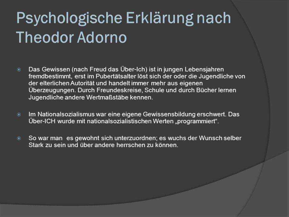 Psychologische Erklärung nach Theodor Adorno