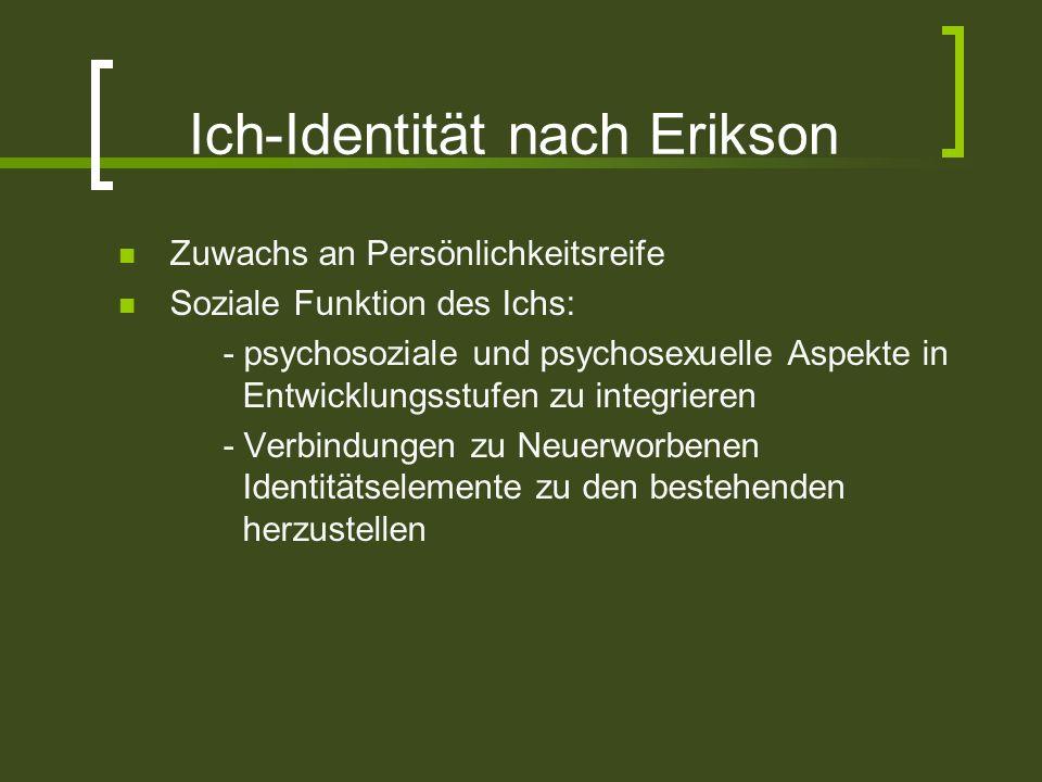 Ich-Identität nach Erikson