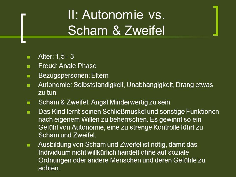 II: Autonomie vs. Scham & Zweifel