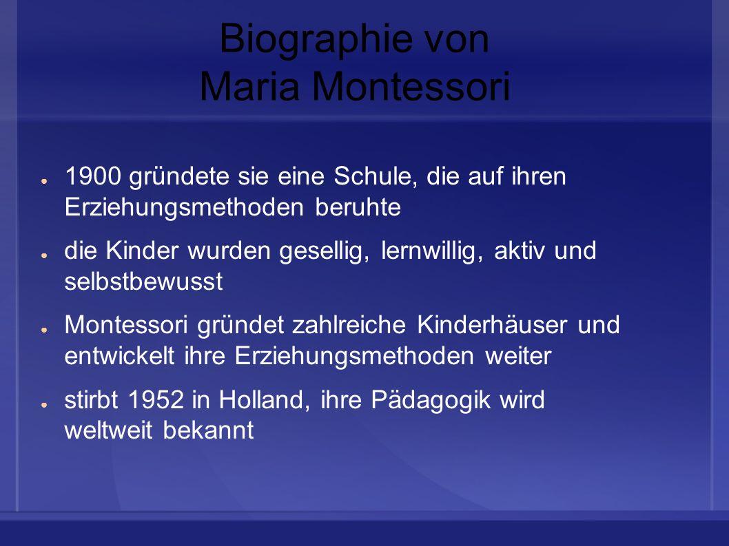 Biographie von Maria Montessori