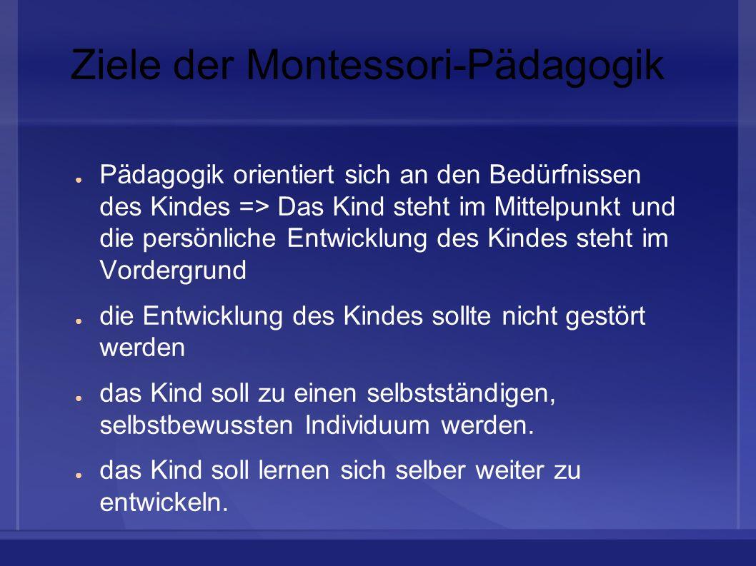 Ziele der Montessori-Pädagogik