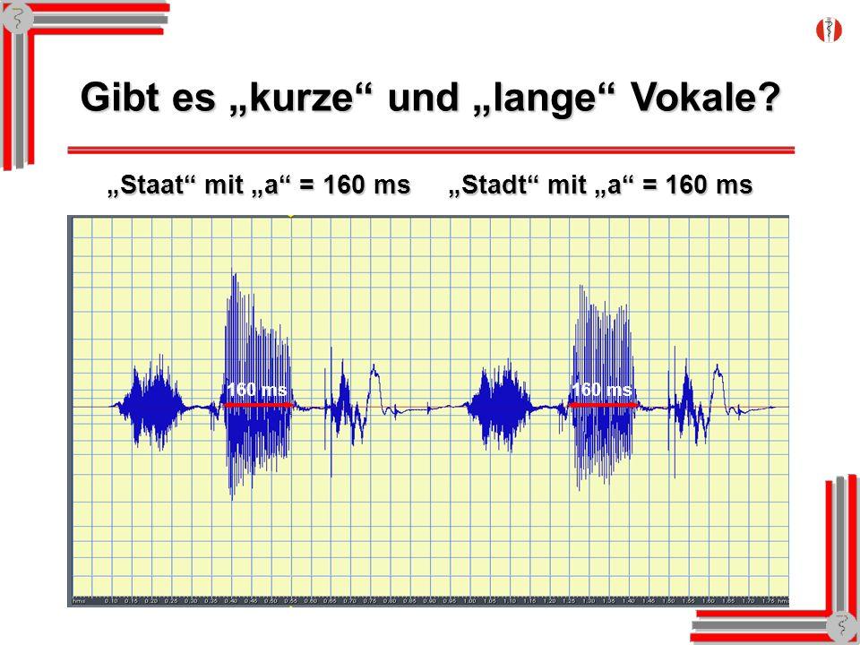 """Gibt es """"kurze und """"lange Vokale"""