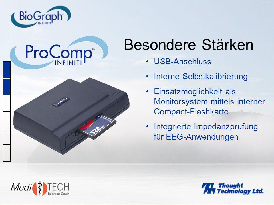 Besondere Stärken USB-Anschluss Interne Selbstkalibrierung
