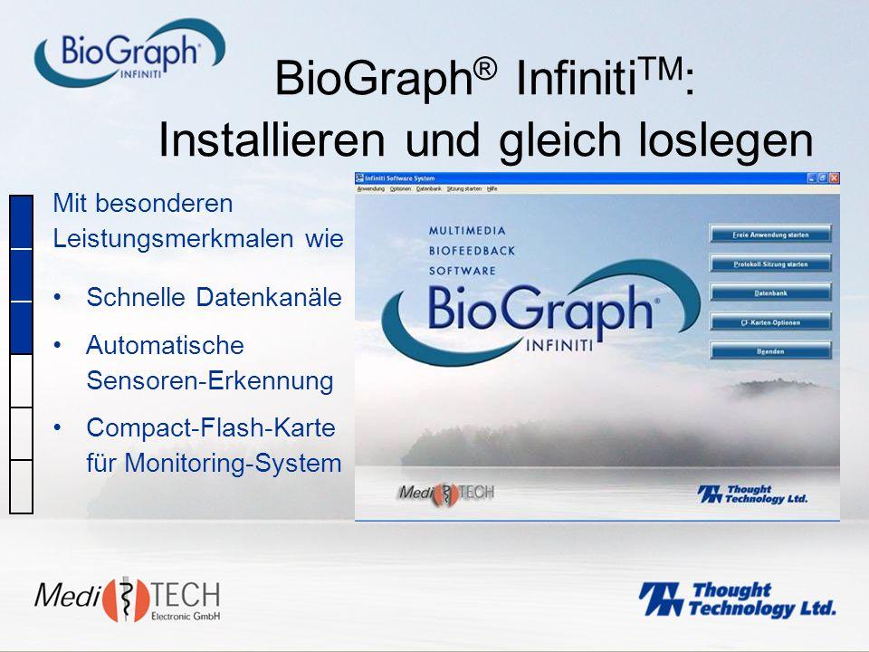 BioGraph® InfinitiTM: Installieren und gleich loslegen