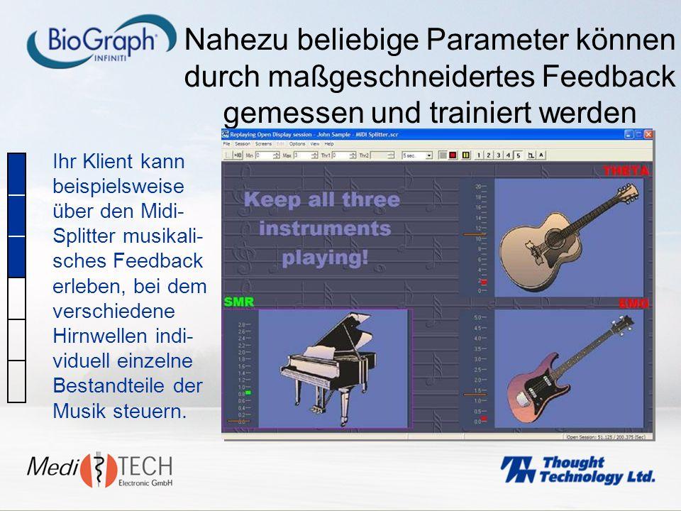 Nahezu beliebige Parameter können durch maßgeschneidertes Feedback gemessen und trainiert werden