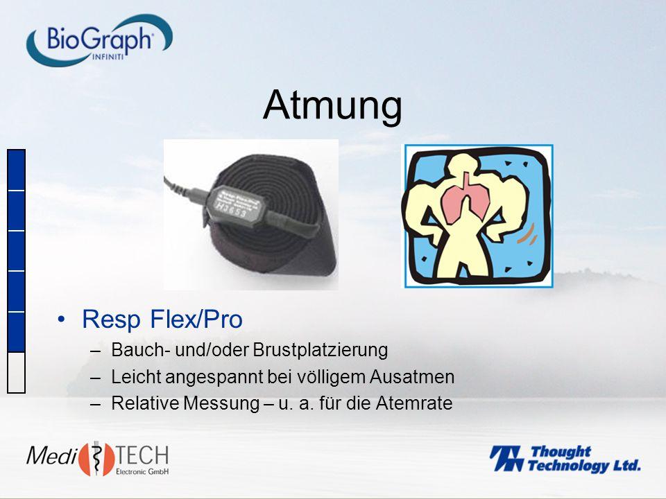 Atmung Resp Flex/Pro Bauch- und/oder Brustplatzierung