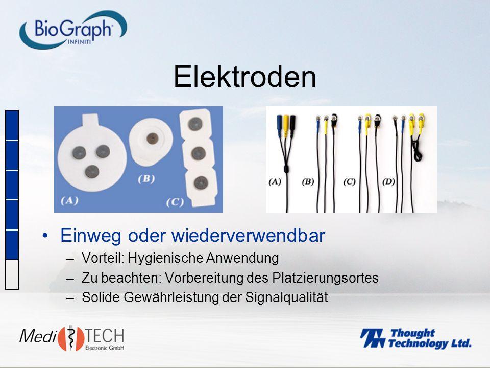 Elektroden Einweg oder wiederverwendbar Vorteil: Hygienische Anwendung