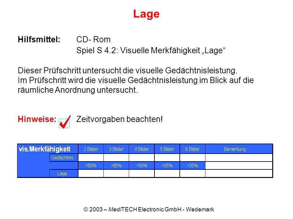 © 2003 – MediTECH Electronic GmbH - Wedemark