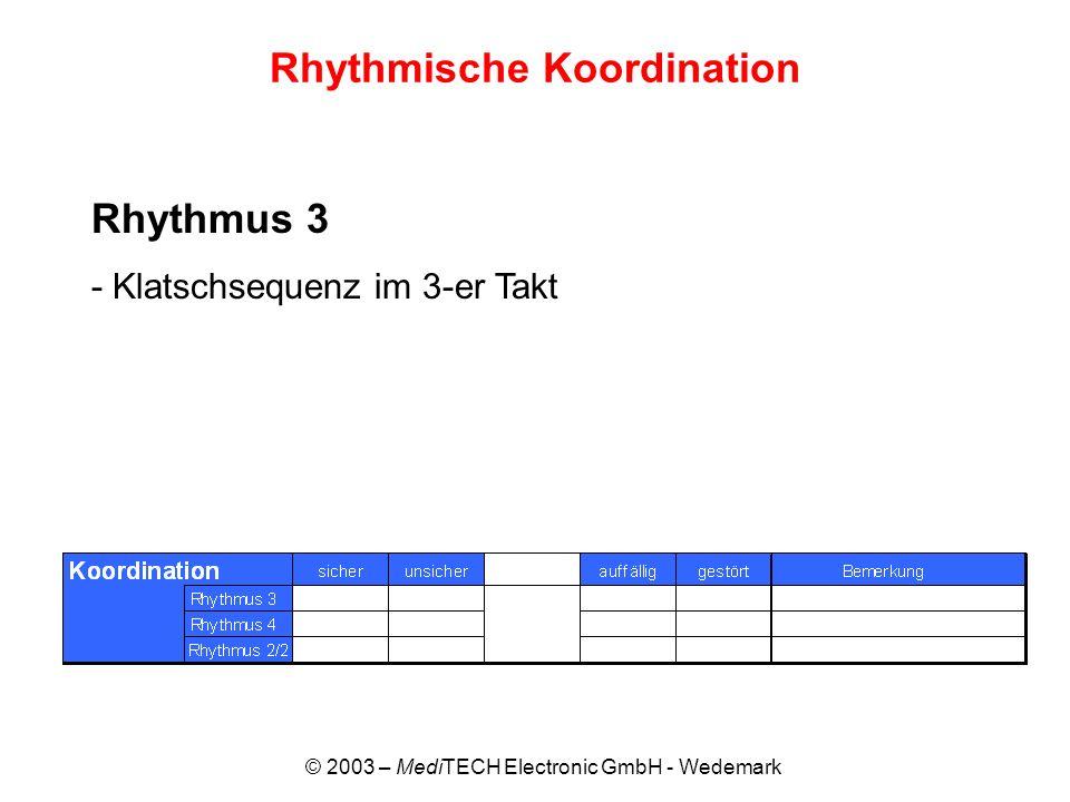 Rhythmische Koordination