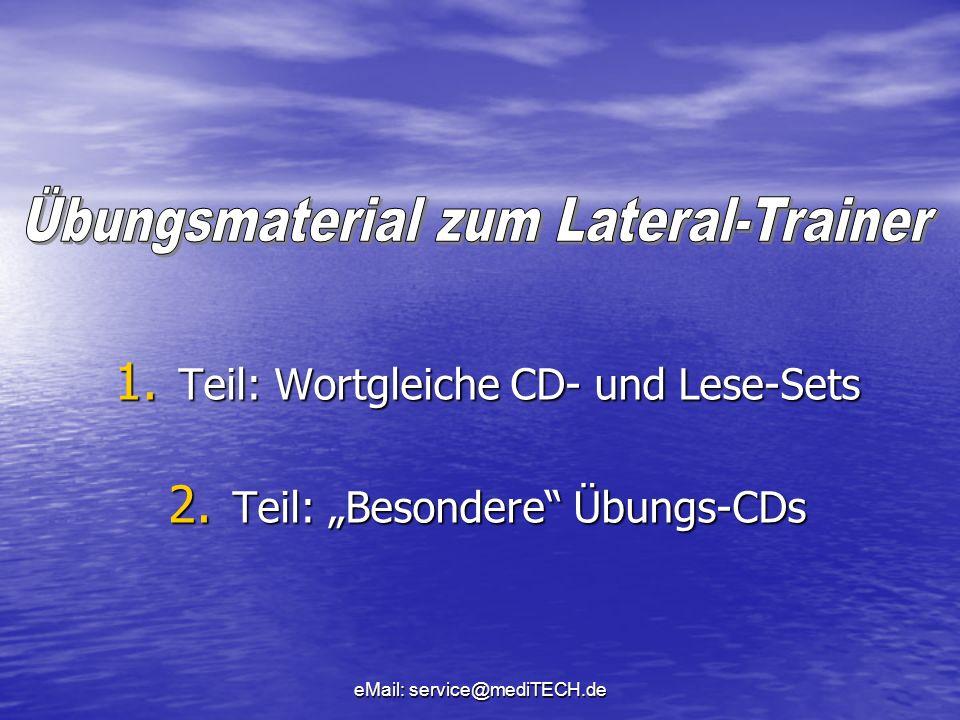 """Teil: Wortgleiche CD- und Lese-Sets Teil: """"Besondere Übungs-CDs"""