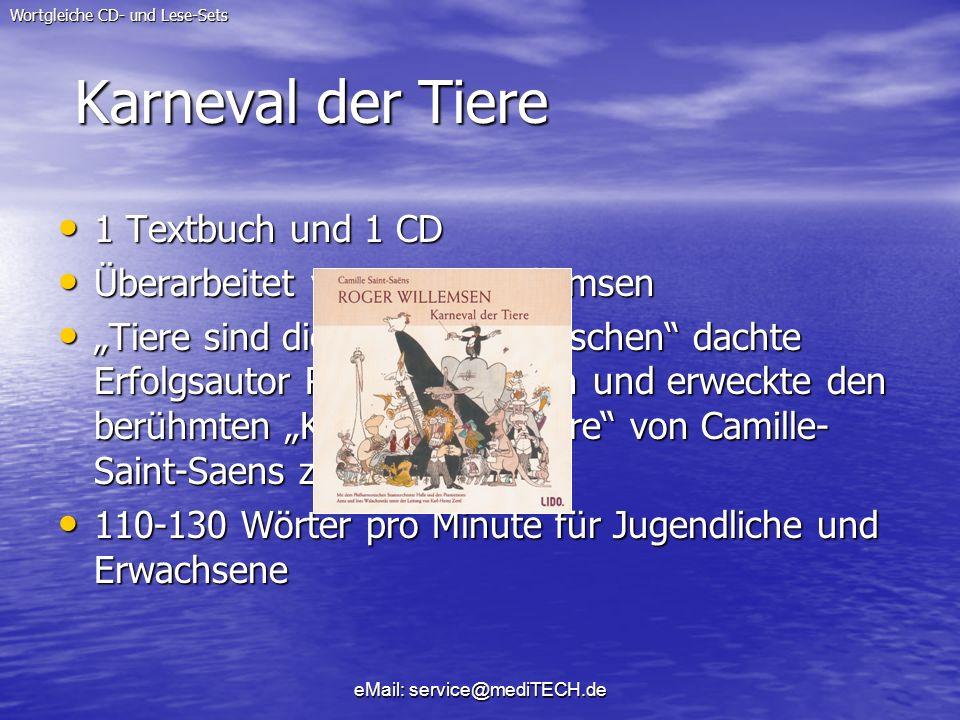 Karneval der Tiere 1 Textbuch und 1 CD