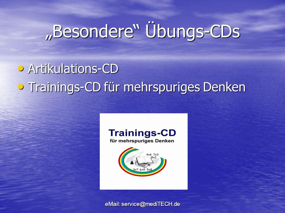 """""""Besondere Übungs-CDs"""