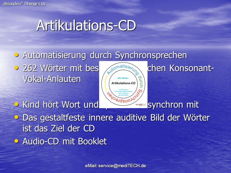 Artikulations-CD Automatisierung durch Synchronsprechen