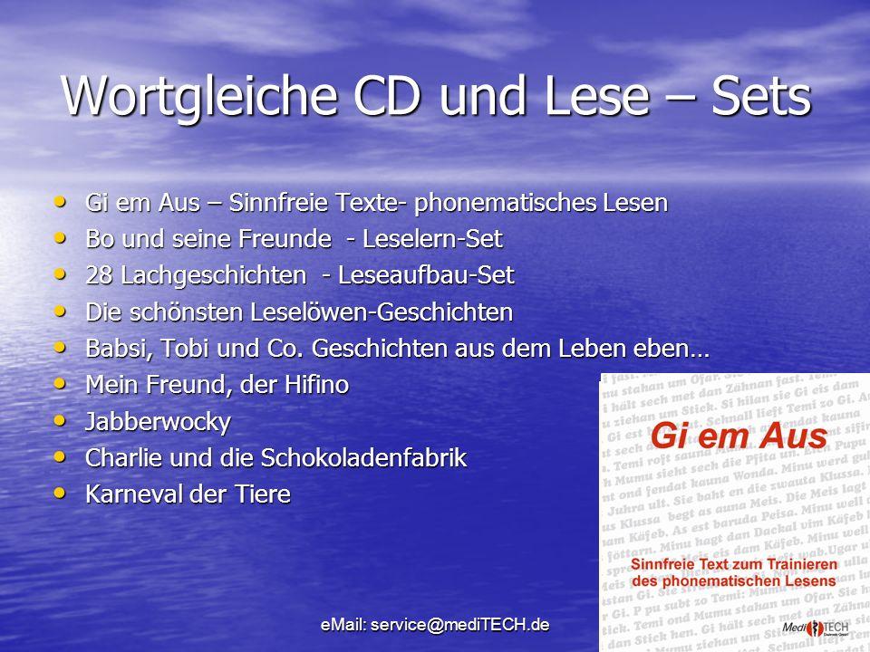 Wortgleiche CD und Lese – Sets