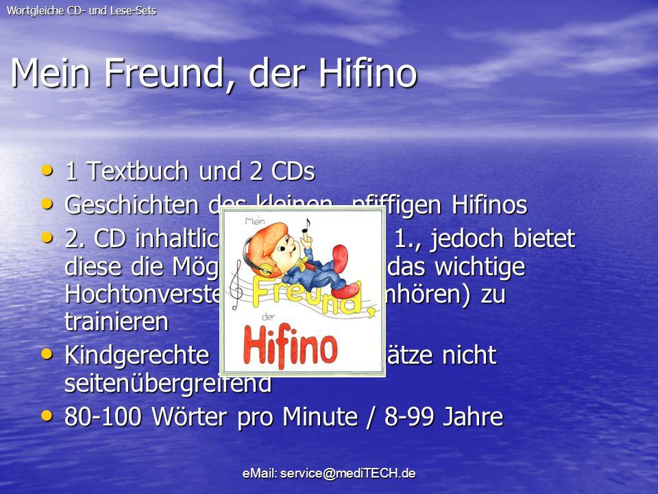 Mein Freund, der Hifino 1 Textbuch und 2 CDs