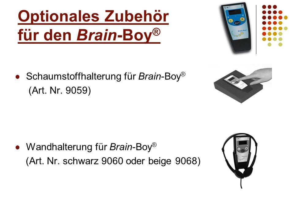 Optionales Zubehör für den Brain-Boy®