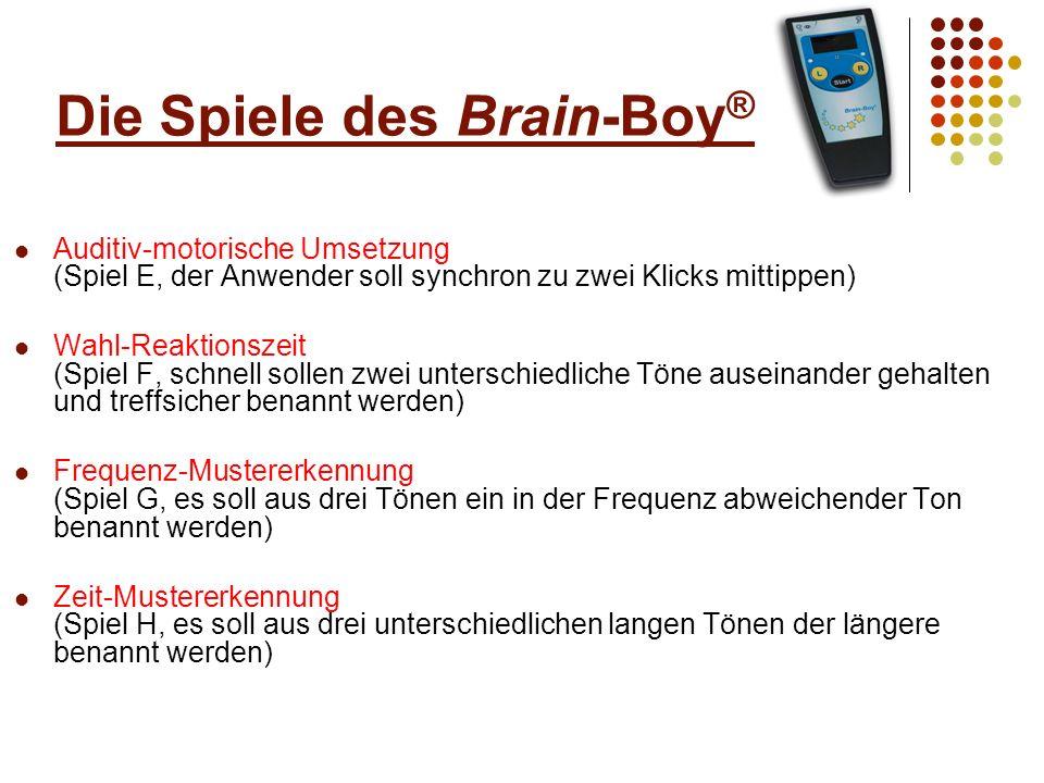 Die Spiele des Brain-Boy®