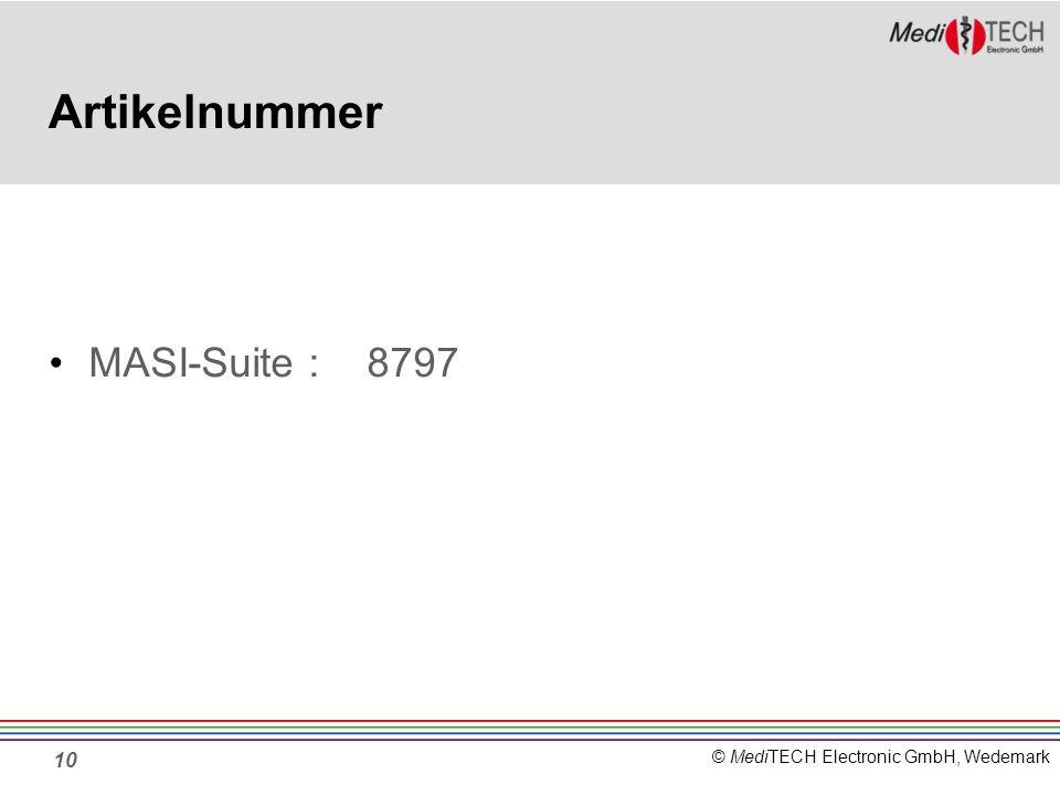 Artikelnummer MASI-Suite : 8797