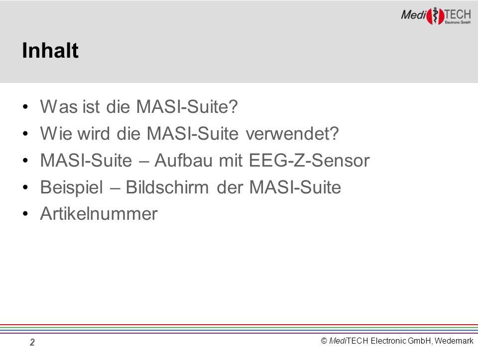 Inhalt Was ist die MASI-Suite Wie wird die MASI-Suite verwendet