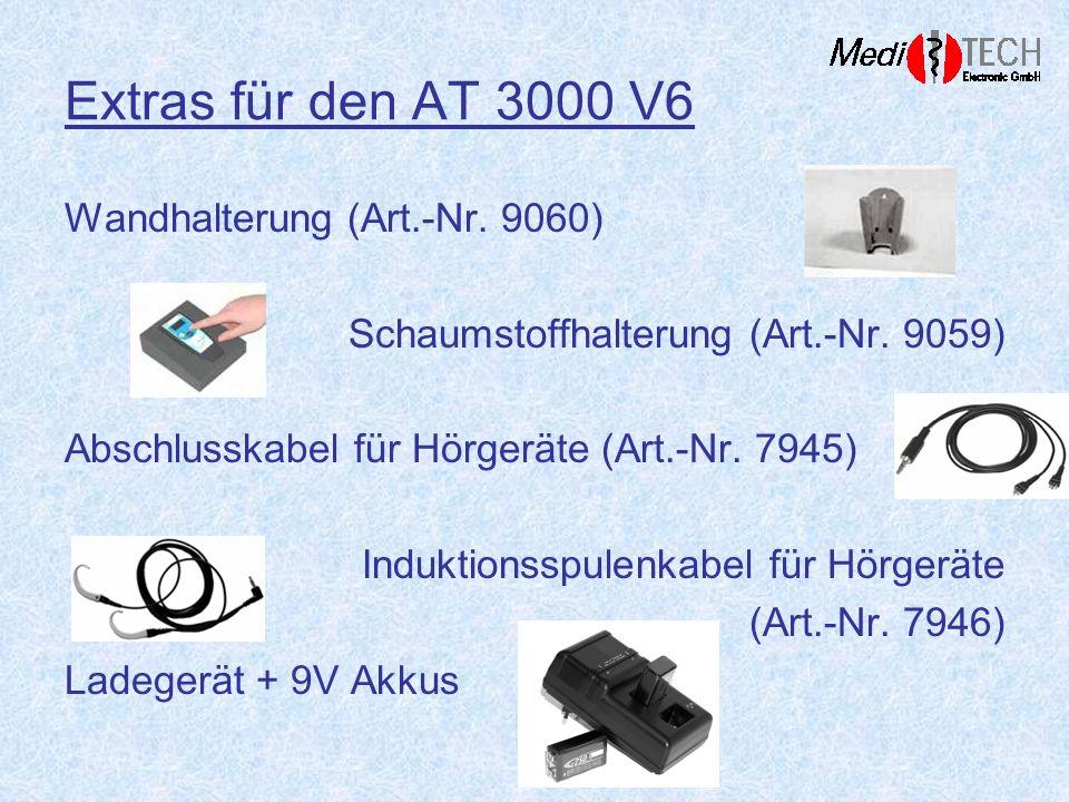 Extras für den AT 3000 V6 Wandhalterung (Art.-Nr. 9060)
