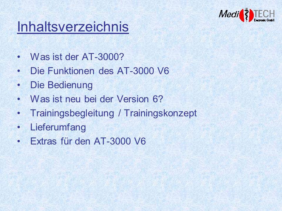 Inhaltsverzeichnis Was ist der AT-3000 Die Funktionen des AT-3000 V6