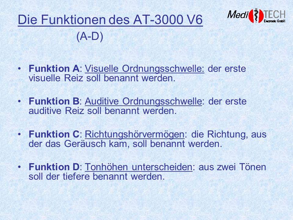 Die Funktionen des AT-3000 V6 (A-D)