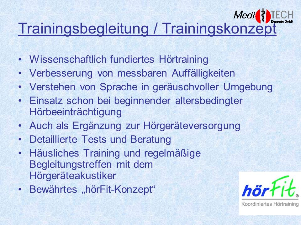 Trainingsbegleitung / Trainingskonzept