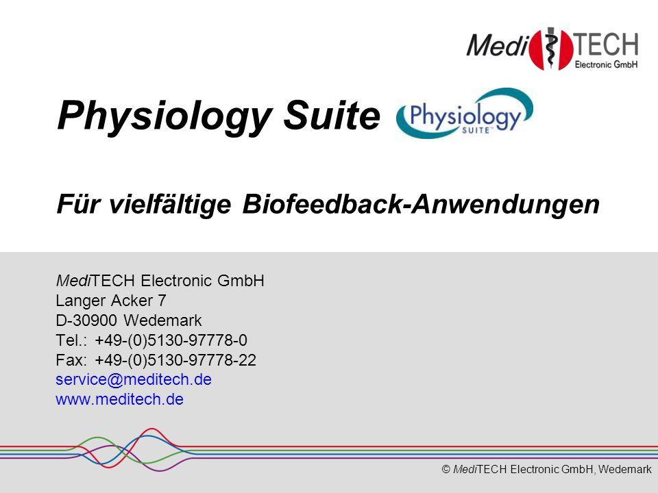 Physiology Suite Für vielfältige Biofeedback-Anwendungen