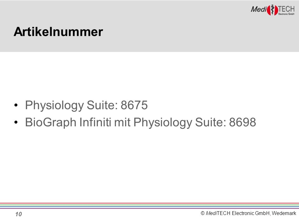 Artikelnummer Physiology Suite: 8675