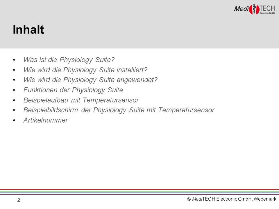 Inhalt Was ist die Physiology Suite