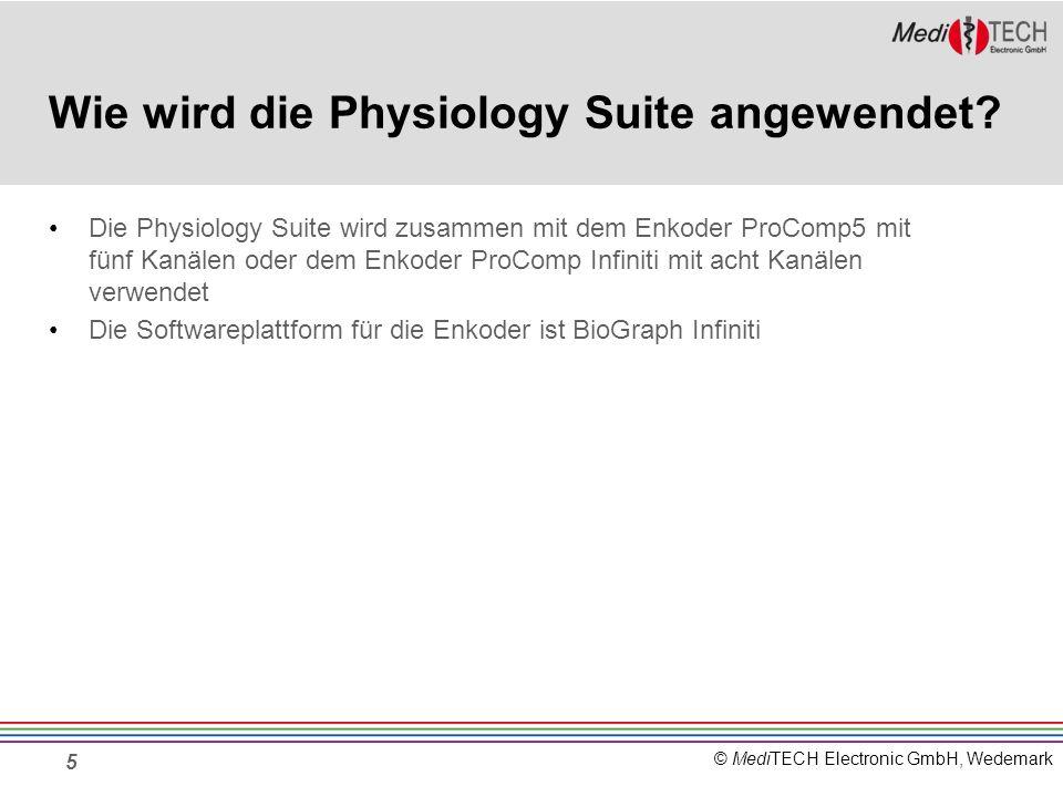 Wie wird die Physiology Suite angewendet