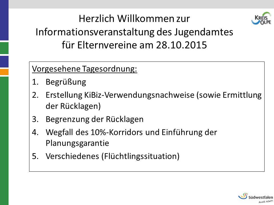 Herzlich Willkommen zur Informationsveranstaltung des Jugendamtes für Elternvereine am 28.10.2015
