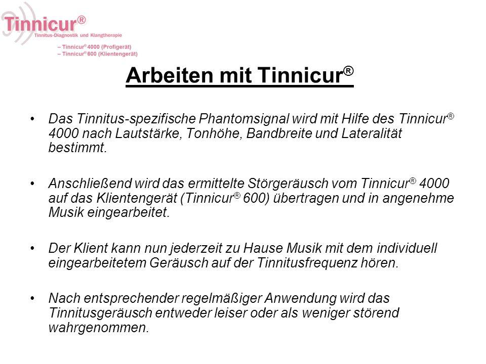 Arbeiten mit Tinnicur®
