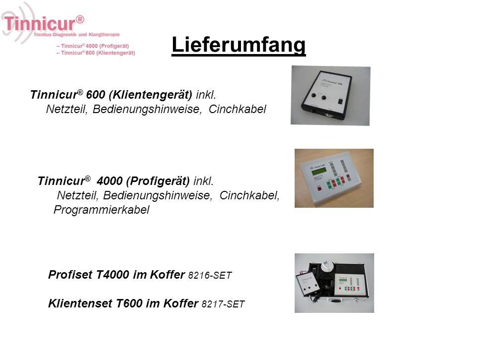 Lieferumfang Tinnicur® 600 (Klientengerät) inkl.