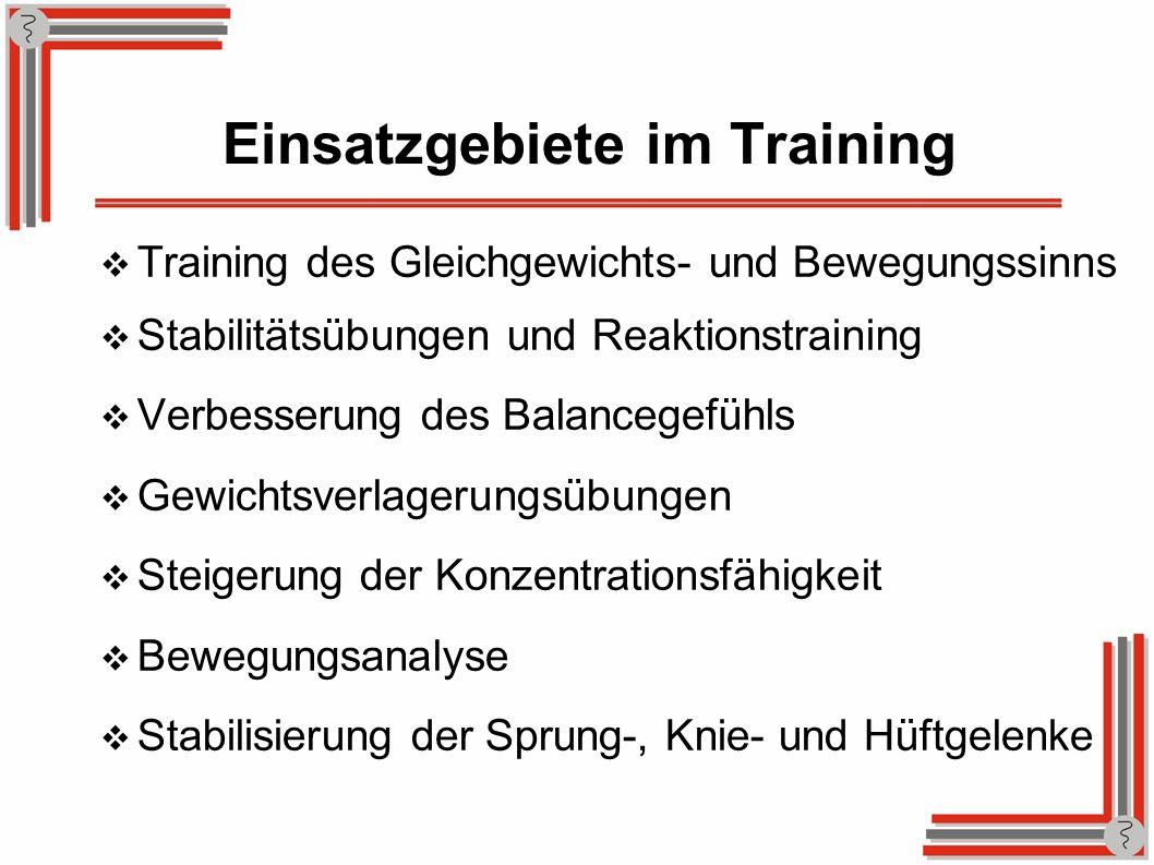 Einsatzgebiete im Training