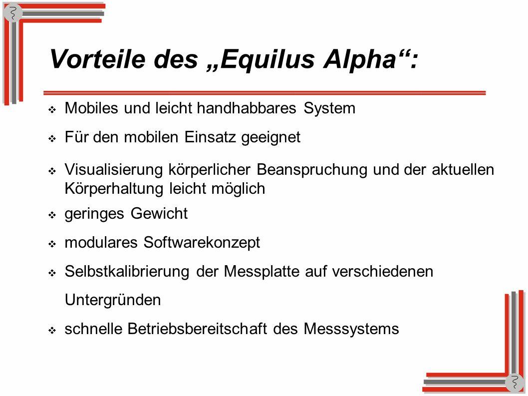"""Vorteile des """"Equilus Alpha :"""