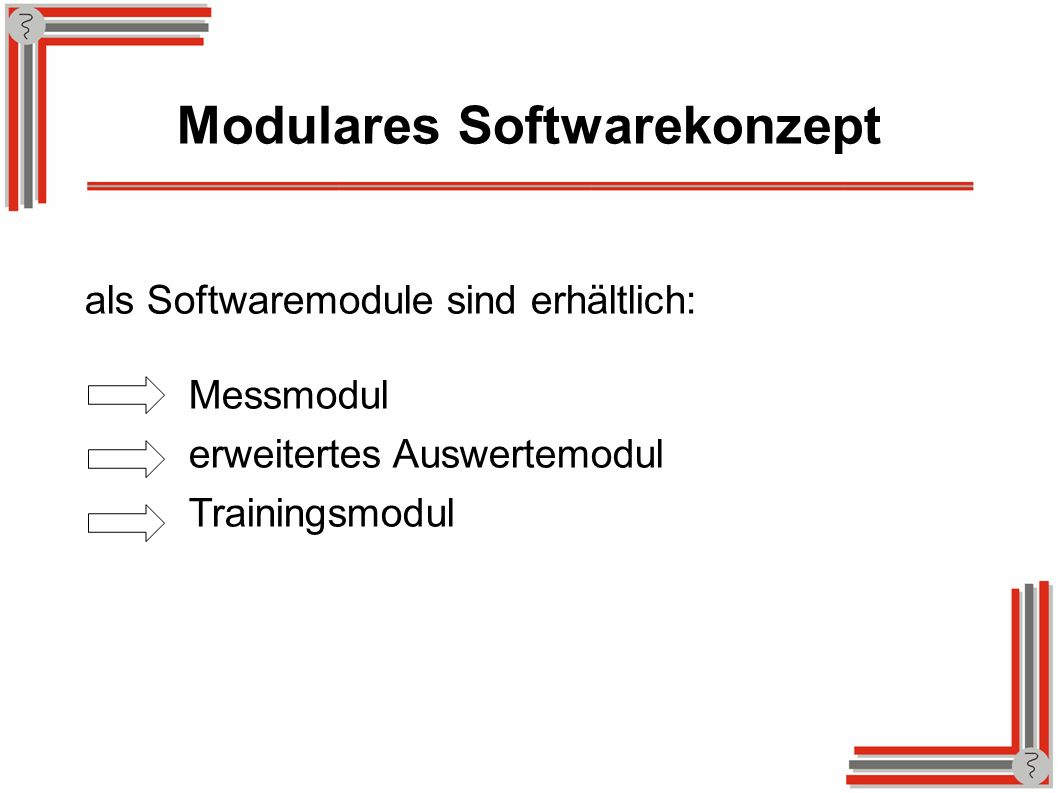 Modulares Softwarekonzept