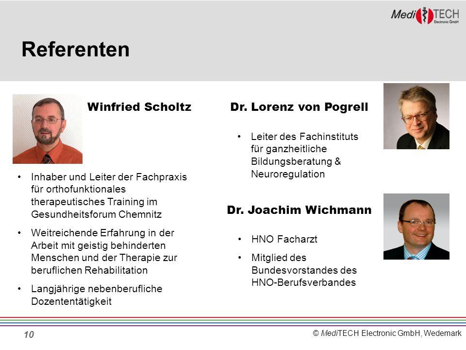 Referenten Winfried Scholtz Dr. Lorenz von Pogrell