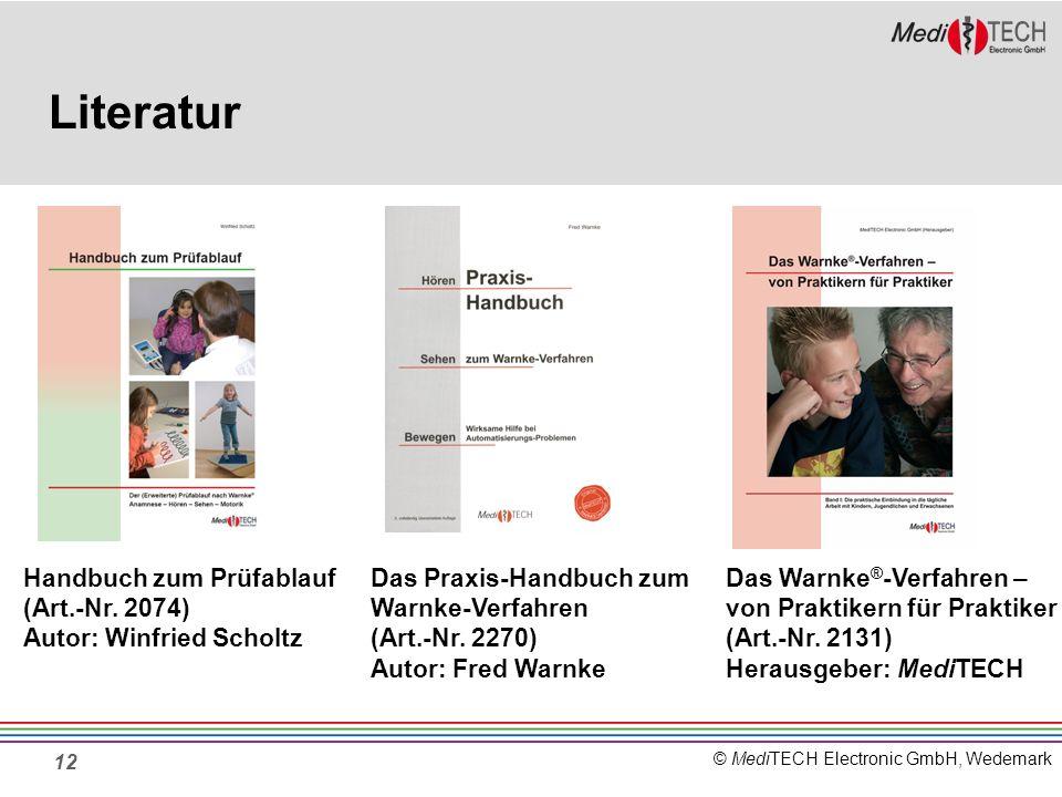 Literatur Handbuch zum Prüfablauf (Art.-Nr. 2074)