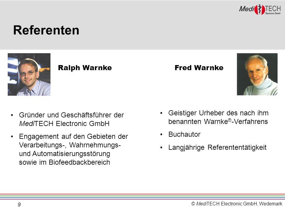 Referenten Ralph Warnke Fred Warnke