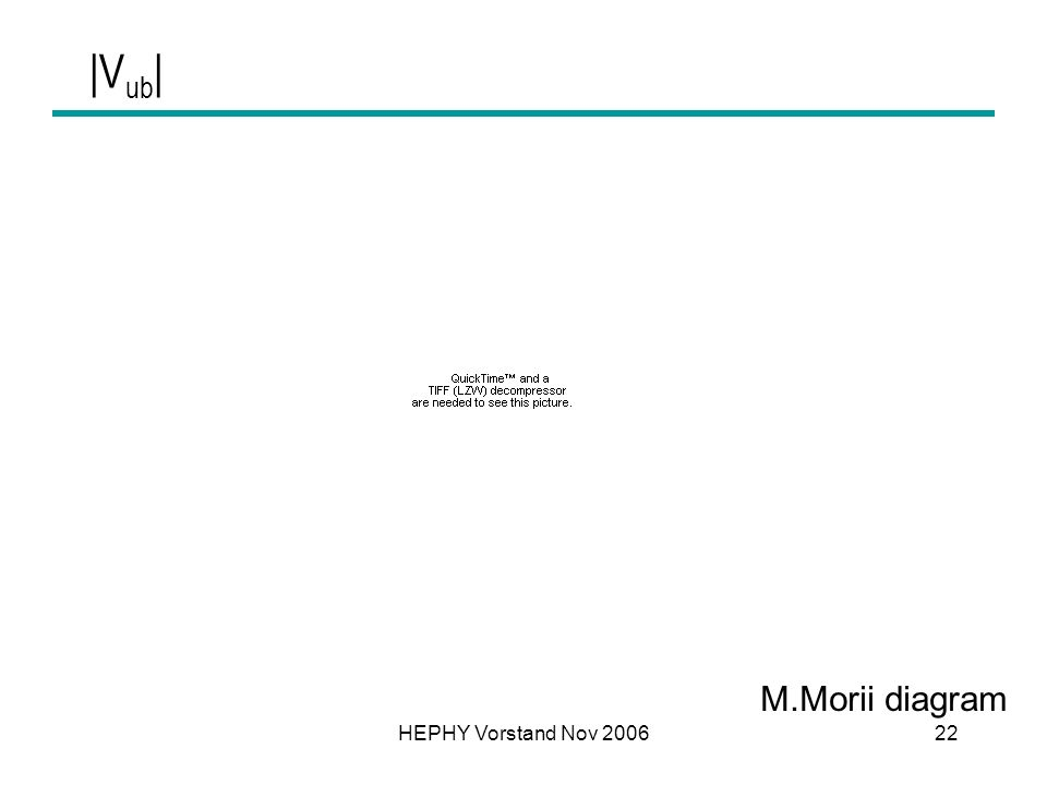 |Vub| M.Morii diagram HEPHY Vorstand Nov 2006