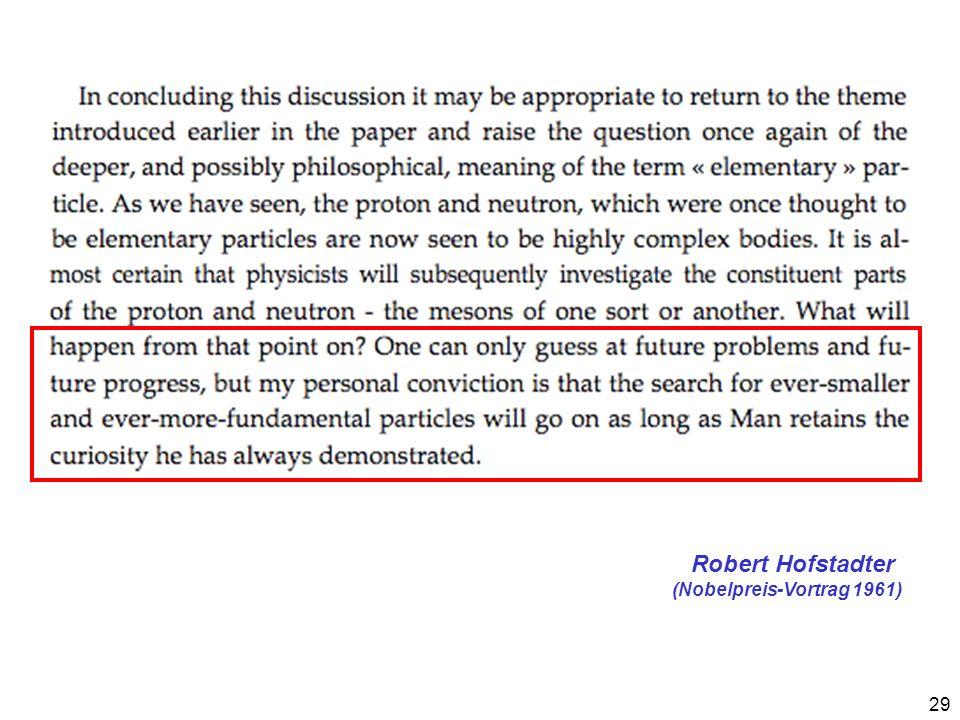 Robert Hofstadter (Nobelpreis-Vortrag 1961)