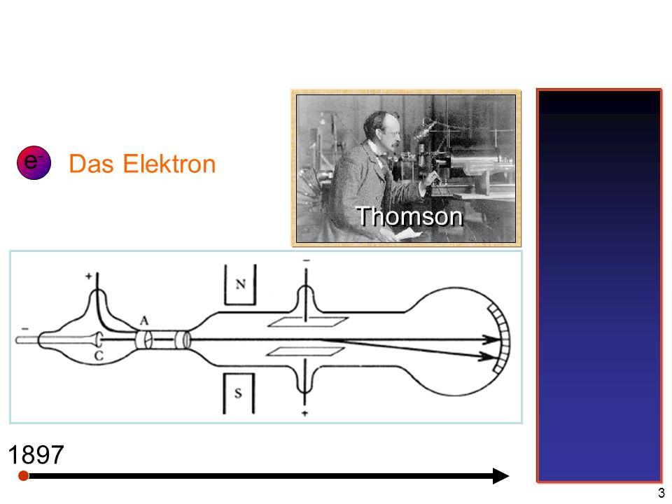 e- Das Elektron Thomson 1897